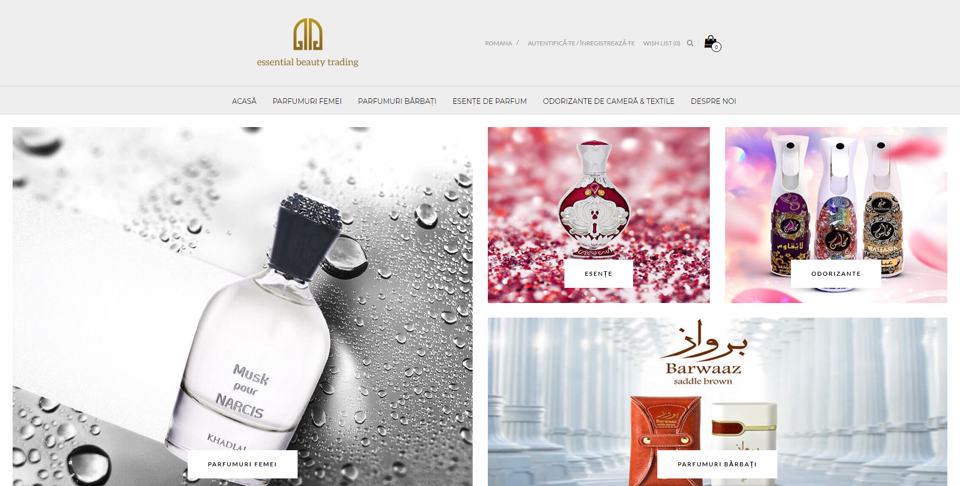 Website Essential Beauty